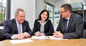 Prof. Dr. Herbert Limpens, Dr. Christina Alexa Bongartz und Dr. Ralf Els